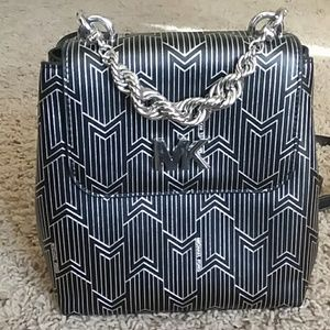 Michael Kors Mott Metallic Chain Bag Backpack